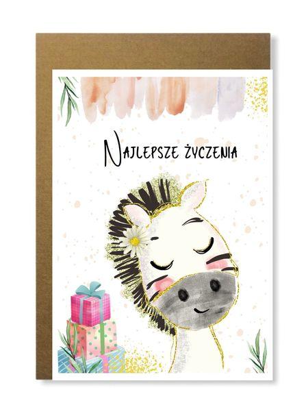 Kartka dla dziecka na urodziny prosta boho prezent (1)
