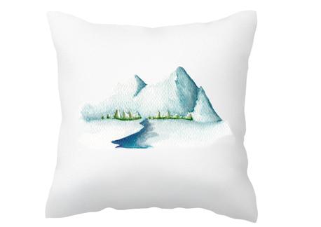 Poszewka dla miłośnika gór góry zimowa na prezent (1)