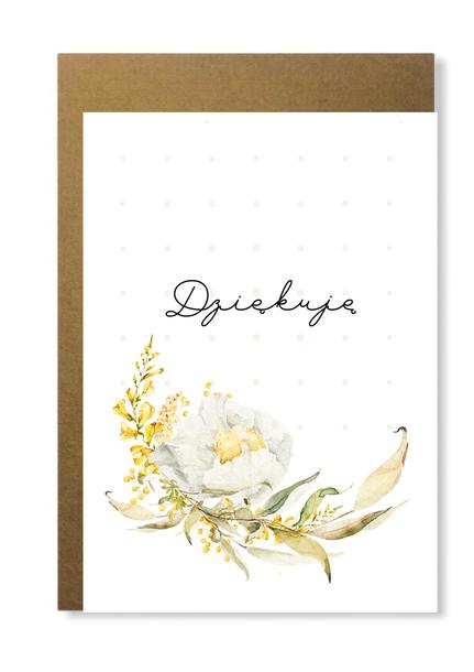 Kartka ślubna firmowa z kwiatem dziękuję elegancka (1)