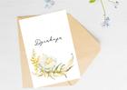 Kartka ślubna firmowa z kwiatem dziękuję elegancka (2)