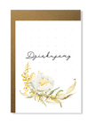 Kartka ślubna firmowa z kwiatem dziękujemy (1)