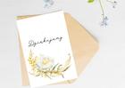 Kartka ślubna firmowa z kwiatem dziękujemy (2)