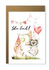 Kartka na urodziny dziecka prezent ze zwierzątkami (1)