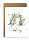 Kartka na urodziny z wiekiem kwiatowa elegancka (2)