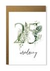Kartka na urodziny z wiekiem kwiatowa elegancka (3)