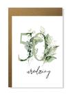 Kartka na urodziny z wiekiem kwiatowa elegancka (4)