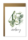 Kartka na urodziny z wiekiem kwiatowa elegancka (5)