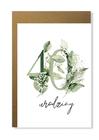 Kartka na urodziny z wiekiem kwiatowa elegancka (6)