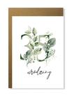 Kartka na urodziny z wiekiem kwiatowa elegancka (7)