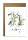 Kartka na urodziny z wiekiem kwiatowa elegancka (8)