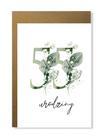 Kartka na urodziny z wiekiem kwiatowa elegancka (9)