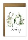 Kartka na urodziny z wiekiem kwiatowa elegancka (10)