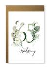 Kartka na urodziny z wiekiem kwiatowa elegancka (11)