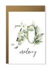 Kartka na urodziny z wiekiem kwiatowa elegancka (12)