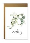 Kartka na urodziny z wiekiem kwiatowa elegancka (13)