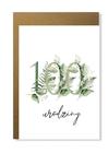 Kartka na urodziny z wiekiem kwiatowa elegancka (14)