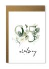 Kartka na urodziny z wiekiem kwiatowa elegancka (15)