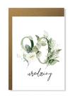 Kartka na urodziny z wiekiem kwiatowa elegancka (16)