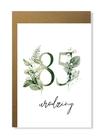 Kartka na urodziny z wiekiem kwiatowa elegancka (17)