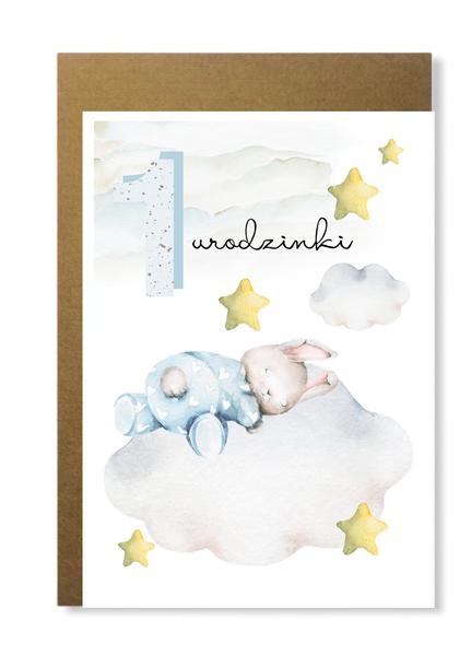 Kartka dla chłopca na roczek pierwsze urodziny 1 (1)
