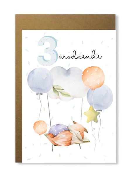 Kartka dla chłopca na 3 trzecie urodziny prezent (1)
