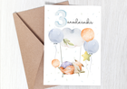 Kartka dla chłopca na 3 trzecie urodziny prezent (2)