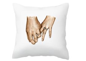 Poszewka na poduszkę dla nowożeńców ślub prezent