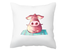Poszewka na poduszkę ze świnką śmieszna yoga