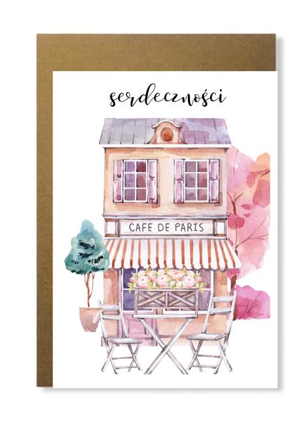 Kartka paryska dla niej paryżanki różowa prezent (1)