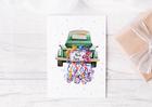 Kartka ślubna stary samochód dla młodej pary (2)