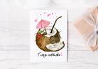 Kartka z kokosem twoje zdrowie urodziny prezent (2)