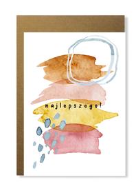 Kartka abstrakcja kolorowa dla niej niego urodziny