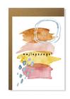 Kartka abstrakcja kolorowa dla niej niego urodziny (1)