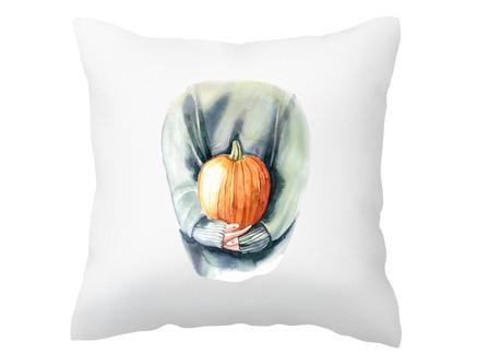 Poszewka na poduszkę jesienna z dynią na jesień (1)