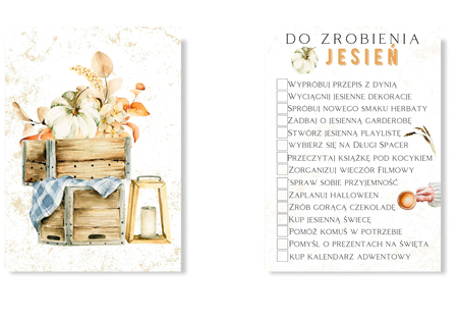 Lista do zrobienia na jesień plakat to do list (1)