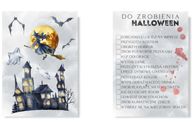 Lista do zrobienia na halloween plakat to do list