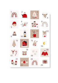 Naklejki świąteczne na kalendarz adwentowy eko