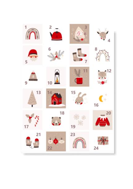 Naklejki świąteczne na kalendarz adwentowy eko (1)