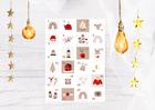 Naklejki świąteczne na kalendarz adwentowy eko (2)
