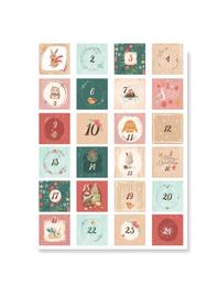 Naklejki świąteczne na kalendarz adwentowy diy
