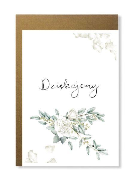 Elegancka kartka na podziękowanie dziękujemy ślub (1)